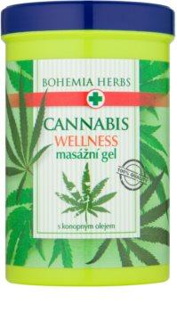 Bohemia Gifts & Cosmetics Cannabis masážny gél s konopným olejom