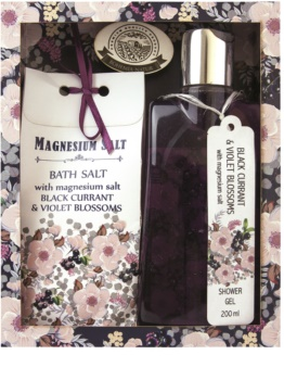 Bohemia Gifts & Cosmetics Magnesium Salt Black Currant & Violet Blossoms Cosmetic Set I.