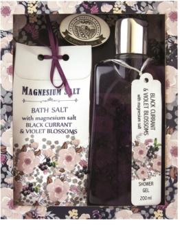 Bohemia Gifts & Cosmetics Magnesium Salt Black Currant & Violet Blossoms kozmetická sada I.