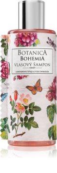 Bohemia Gifts & Cosmetics Botanica champô para cabelo com extrato de rosas silvestres
