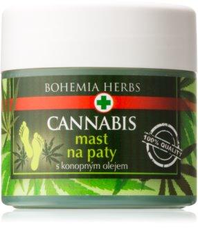 Bohemia Gifts & Cosmetics Cannabis masť na zrohovatenú kožu chodidiel s konopným olejom