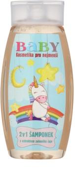 Bohemia Gifts & Cosmetics Baby champô para corpo e cabelo com extrato de chá verde
