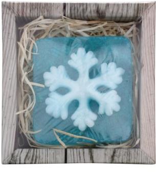 Bohemia Gifts & Cosmetics Snowflake jabón hecho a mano con glicerina