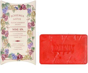 Bohemia Gifts & Cosmetics Wine Spa jabón con textura de crema con glicerina