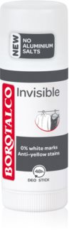 Borotalco Invisible tuhý deodorant proti bílým a žlutým skvrnám
