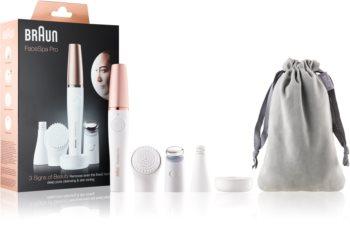 Braun FaceSpa Pro 911 sistema 3 in 1 per depilare, rivitalizzare e tonificare il viso