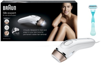 Braun Silk Expert IPL BD 5001 IPL Face and Body Epilator + Gilette Venus Razor