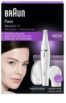 Braun Face  830 epilátor tisztító kefével az arcra