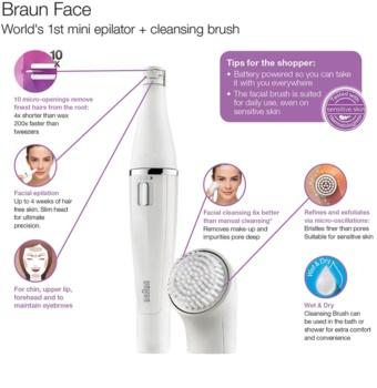 Braun Face  830 epilátor a čistiaca kefa na tvár