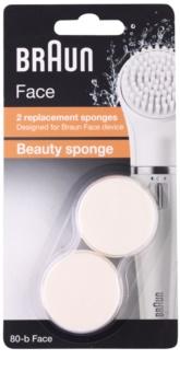 Braun Face 80-b Beauty Sponge Spare Heads 2 pcs