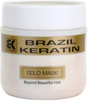 Brazil Keratin Gold regenerierende Maske mit Keratin für beschädigtes Haar
