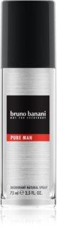 Bruno Banani Pure Man Deo mit Zerstäuber für Herren 75 ml