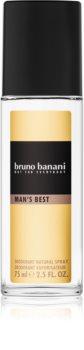 Bruno Banani Man's Best Deo met verstuiver voor Mannen 75 ml