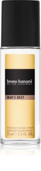 Bruno Banani Man's Best déodorant avec vaporisateur pour homme 75 ml