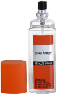 Bruno Banani Absolute Woman déodorant avec vaporisateur pour femme 75 ml