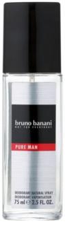 Bruno Banani Pure Man déodorant avec vaporisateur pour homme 75 ml
