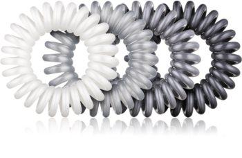 BrushArt Hair Rings Metal Hair Band x4