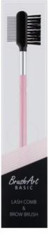 BrushArt Basic Pink escova para pestamas e sobrancelhas