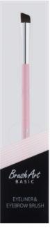 BrushArt Basic Pink pensulă pentru gene și sprâncene