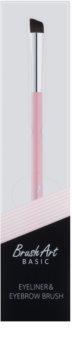 BrushArt Basic Pink štětec na obočí a oční linky