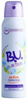 B.U. In Action Active Release antiperspirant pentru femei 150 ml
