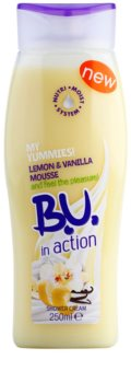 B.U. In Action - My Yummies! Lemon + Vanilla Mousse crema de ducha para mujer 250 ml