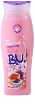B.U. In Action - My Smoothies! Yogurt + Fig crema de ducha para mujer 250 ml