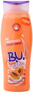 B.U. In Action - My Smoothies! Yogurt + Papaya gel de dus pentru femei 250 ml