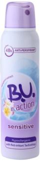 B.U. In Action Sensitive antiperspirant pro ženy 150 ml