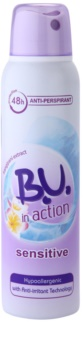 B.U. In Action Sensitive antiperspirant za ženske 150 ml