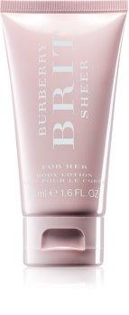 Burberry Brit Sheer telové mlieko pre ženy 50 ml