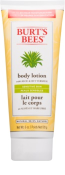 Burt's Bees Aloe & Buttermilk lait corporel pour peaux sensibles à l'aloe vera