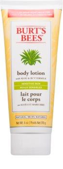 Burt's Bees Aloe & Buttermilk lapte de corp piele sensibilă cu aloe vera