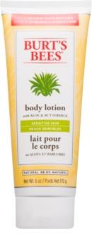 Burt's Bees Aloe & Buttermilk telové mlieko na citlivú pokožku s aloe vera