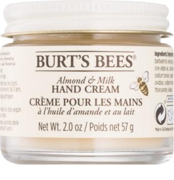 Burt's Bees Almond & Milk crema per le mani con olio di mandorle