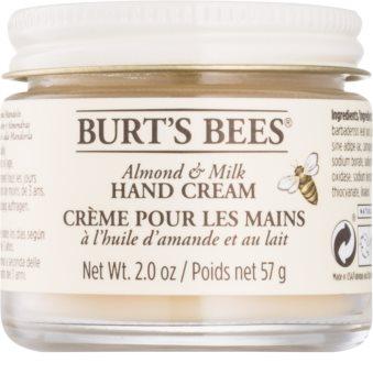 Burt's Bees Almond & Milk κρέμα για τα χέρια με λάδι αμύγδαλου