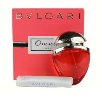 Bvlgari Omnia Coral eau de toilette + sachet en satin  pour femme 25 ml