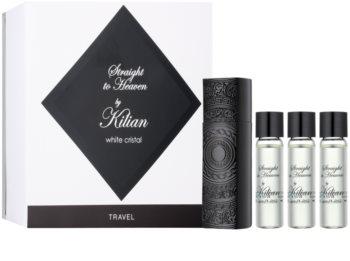 By Kilian Straight To Heaven, white cristal eau de parfum (1x nachfüllbar + 3x nachfüllung) für Herren 4 x 7,5 ml