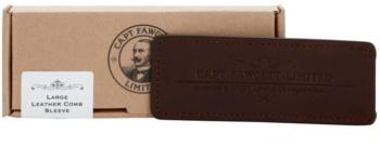 Captain Fawcett Accessories kožené puzdro na hrebeň