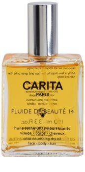 Carita Lait de Beauté 14 vyživujúci suchý olej na tvár, telo a vlasy