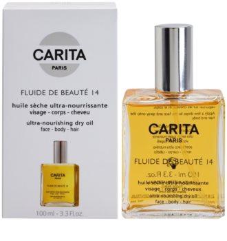 Carita Beauté 14 óleo seco nutritivo para rosto, corpo e cabelo