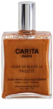 Carita Beauté 14 aceite seco nutritivo con purpurina