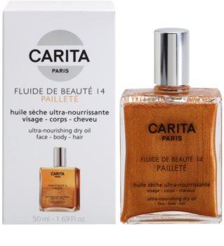 Carita Beauté 14 поживна суха олійка з блискітками