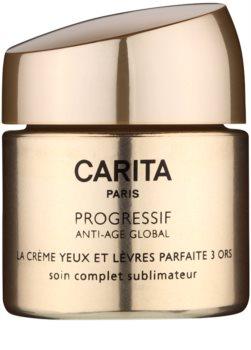 Carita Progressif Anti-Age Global crema pentru fermitate si stralucire pentru conturul ochilor si buzelor