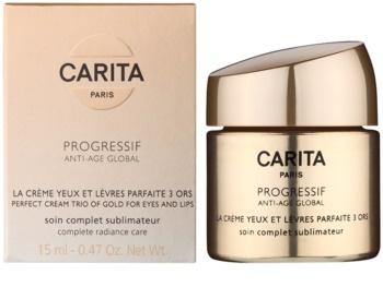 Carita Progressif Anti-Age Global crème raffermissante et illuminatrice contour yeux et lèvres