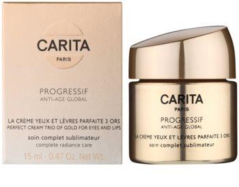 Carita Progressif Anti-Age Global festigende und aufhellende Creme  für Augen - und Lippenkonturen