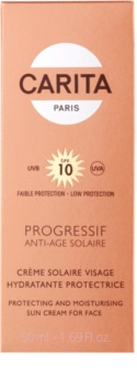Carita Progressif Anti-Age Solaire loção hidratante protetora SPF 10
