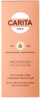 Carita Progressif Anti-Age Solaire loção corporal de bronzeamento SPF 20