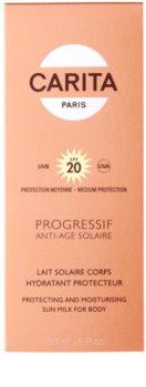Carita Progressif Anti-Age Solaire opaľovacie telové mlieko SPF 20