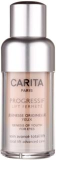 Carita Progressif Lift Fermeté gel za predel okoli oči proti gubam, zabuhlosti in temnim kolobarjem